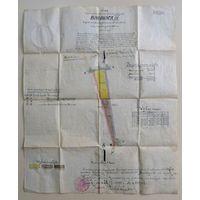 "План местности ""BOROWICA 3"" 1939г. Польша. Размер 40-48см."