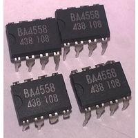 BA4558 малошумящий сдвоенный операционный усилитель. Аналог IL4558, F4558, LM4558, H4558, L4558, C4558, 4558