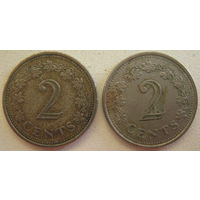 Мальта 2 цента 1976 г. Цена за 1 шт. (gl)