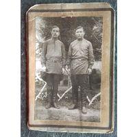 Фото двух мужчин (казаков). До 1917 г. 9х13.5 см