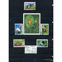 """МАДАГАСКАР, ,1983  ЛЕМУРЫ 5м и БЛОК (на """"СКАНЕ"""" справочно приведены номера и цены по Michel)"""