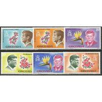 Гренада. Джон Ф. Кеннеди. Президент США. 1968г. Mi#249-54. Серия.