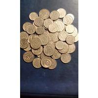 Лот 50 никелевых монет 10-15-20 копеек.Ранние советы.Качество!