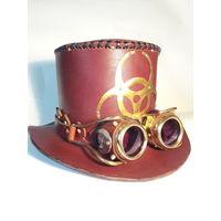 Шляпа и гогглы ручной работы в стиле стимпанк