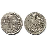 Грош 1606, Сигизмунд III Ваза, Краков. Рв - герб Леварт в щитке