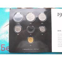 Мальта набор монет 1, 2, 10, 50 центов + Альбом для старых и современных евро монет Мальты.