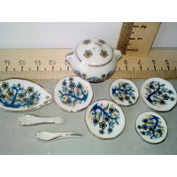 Кукольная посуда столовая (кукольная миниатюра 1:12)