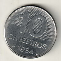 Бразилия 10 крузейро 1984