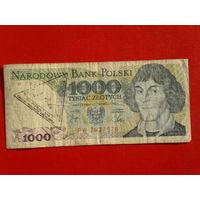 1000 злотых 1982 г. с Гомельской печатью времён СССР