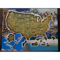 США. Памятные квотеры, штаты и территории, 1999-2009 год. 56 штук. Сертификат.
