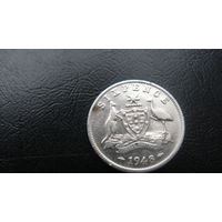 Австралия 6 пенсов 1948 ( серебро)