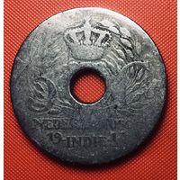 25-20 Голландская Ост-Индия, 5 центов 1913 г.