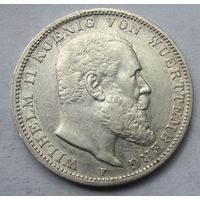 Германия, Вюртемберг, 3 марки, 1910, серебро