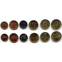 Свазиленд 5, 10, 20, центов 2011 г. 1 лилангени 2008 г. 1 лилангени 2011 г. 2 эмалангени 2010 г.