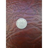 НИГЕРИЯ 10 кобо 1974 год с рубля
