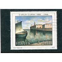Италия. Живопись . Карло Карра, итальянский художник. Вид на порт