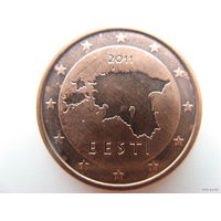 Эстония 2 евроцента 2011г.