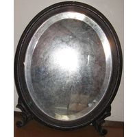 Зеркало антикварное старинное 19 век, камодное. Высота 51см.