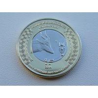"""Мавритания. 1 франк 2014 год """"100 лет Начала 1-й Мировой войны"""""""