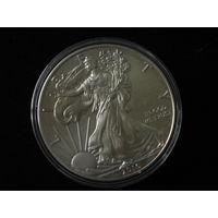 Доллар серебреный, 2016г, 900 пр., полировка, пруф, в капсуле.