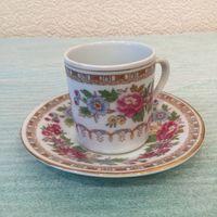 Чашка (Фарфоровая кофейная пара) Сады поднебесной, Китай 80-е года