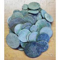 Убитые монеты 70 штук.