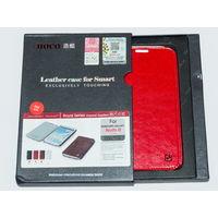 1715 Чехол для Samsung Note 2 книжка, кожа, красный