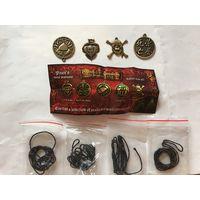 Медальоны металл пираты карибского моря Киндер ландрин 4 из 5 и вкладыш к серии Новые