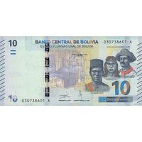 Боливия 10 боливиано 2018 (ПРЕСС)