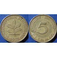 ФРГ, 5 пфеннигов 1973 F. монетный двор Штудгарт