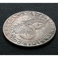 Орт 1668 TLB, Ян II Казимир Ваза. Остатки штемпельного блеска, коллекционное состояние