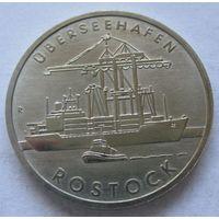 Германия - ГДР 5 марок 1988 30 лет порту города Росток