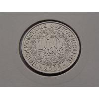 Западная Африка. 100 франков 2005 год  КМ#4