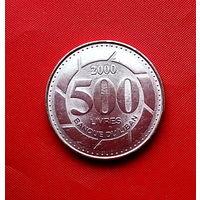 91-04 Ливан, 500 ливров 2000 г.