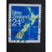 Новая Зеландия. Карта.