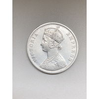 Британская Индия 1 рупия 1890 г.