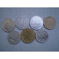 Азия 7 монет одним лотом
