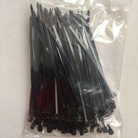 Хомуты ((пачка 100 шт)) кабельные нейлоновые. 100 мм. Стяжки черные