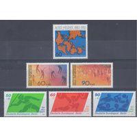 [1058] Германия Зап.Берлин. 6 чистых  марок.