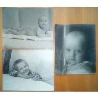 Серия из 3 детских фото 60-гг большой формат А4