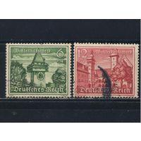 Германия Рейх 1939 Зимняя помощь Строения Грац Клагенфурт-ам-Вёртезе #733,735