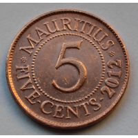 Маврикий 5 центов, 2012 г.
