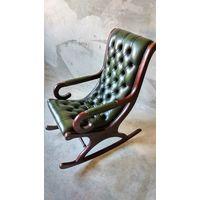 Английское кресло качалка Честерфилд