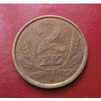 2 злотых 1985 Польша #02