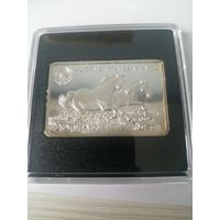 Ахалтекинская лошадь. Серебро 20 рублей. 2011