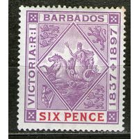 Барбадос. Михель- 58-х. Чистая.