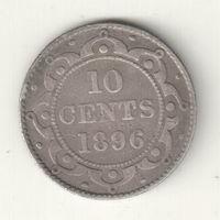 Ньюфауленд 10 цент 1896