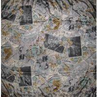 Непревзойденный стиль! Настоящий итальянский платок JAGO с портретами Чарли Чаплина, Греты Гарбо и Конрада Нагеля!