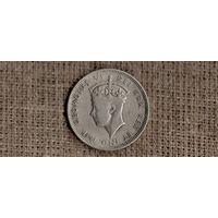 Кипр 1 шиллинг 1947 /ГЕОРГ/(ОI)