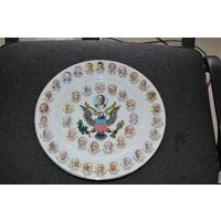 Качественная сувенирная настенная  тарелка для поднятия боевого  духа американского контингента в период Иракской компании.
